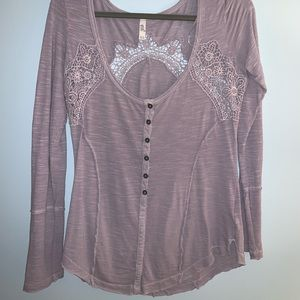 Free people purple long sleeve